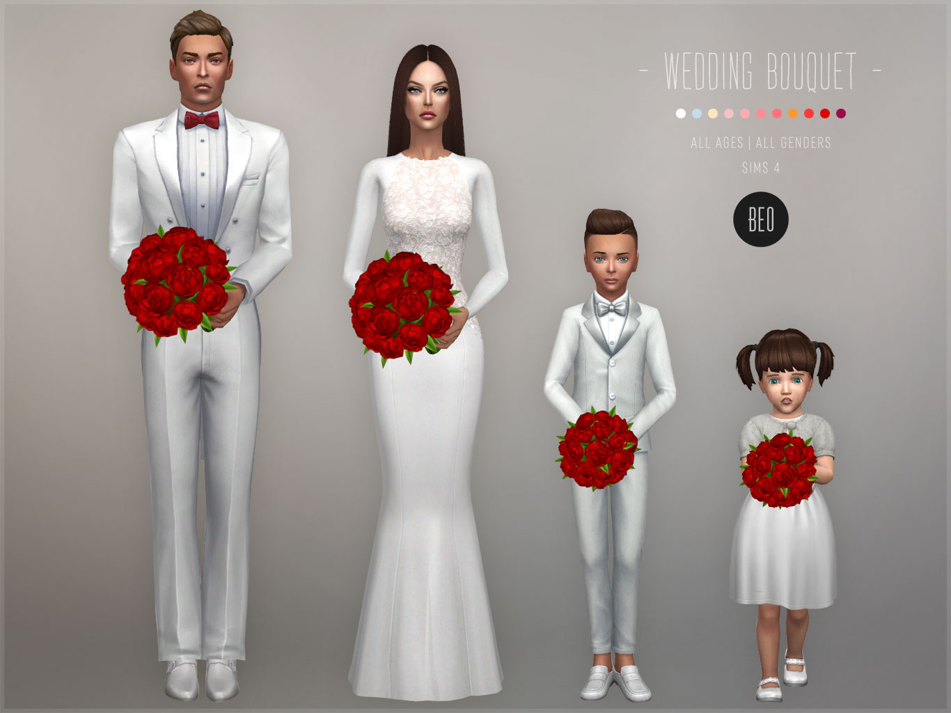 Wedding bouquet (update) for The Sims 4 by BEO