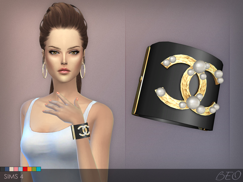 Chanel pearls bracelet The Sims 4 by BEO