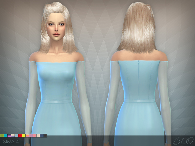 Transparent sleeves dress for The Sims 4 (1)
