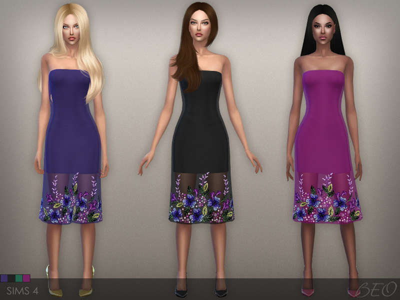Dress S09 for The Sims 4 by BEO