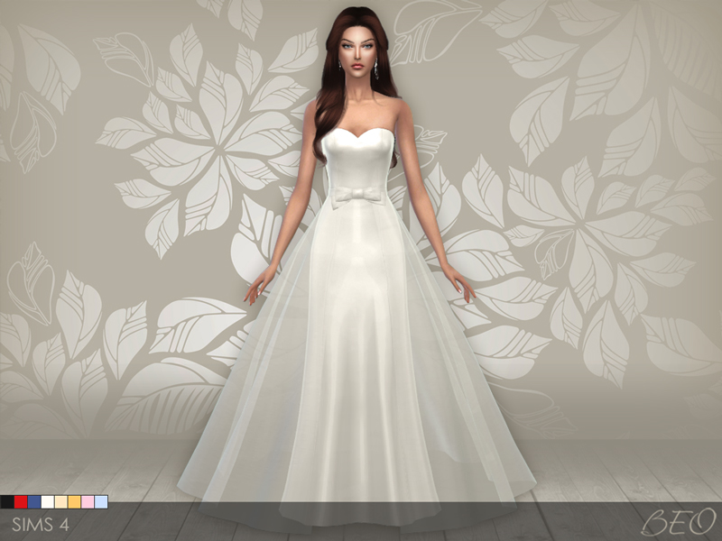 Wedding dress 01 for The Sims 4