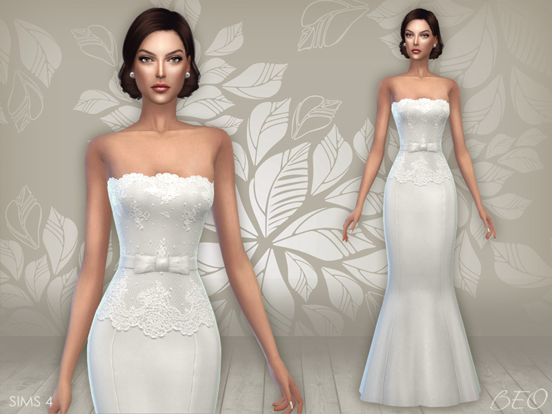Wedding dress 03 for The Sims 4 by BEO