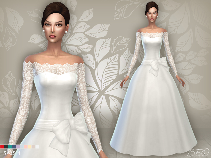 Wedding dress 05 for The Sims 4 by BEO