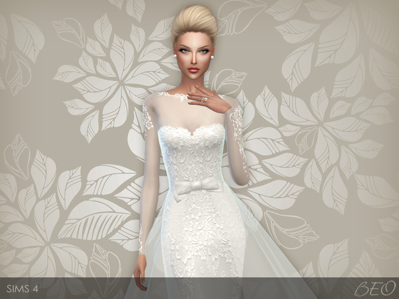 Wedding dress 28 for The Sims 4