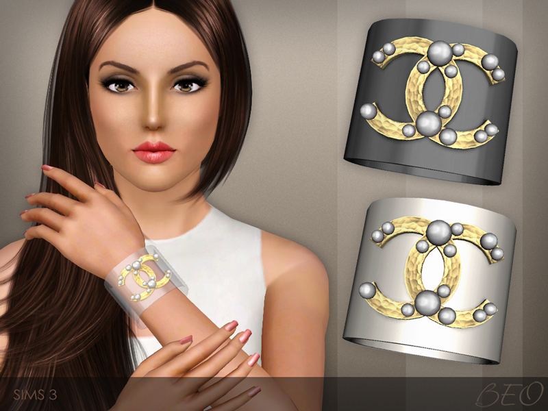Chanel pearl bracelet for The Sims 3 by BEO