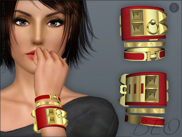 Bracelets set for The Sims 3 by BEO
