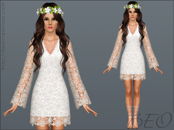 Wedding dress 29 for Sims 3 by BEO (1)