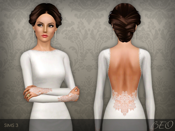 Wedding dress 35 for Sims 3 by BEO (1)