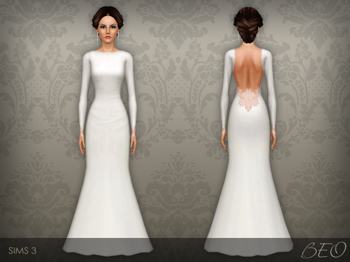 Wedding dress 35 for Sims 3 by BEO (2)