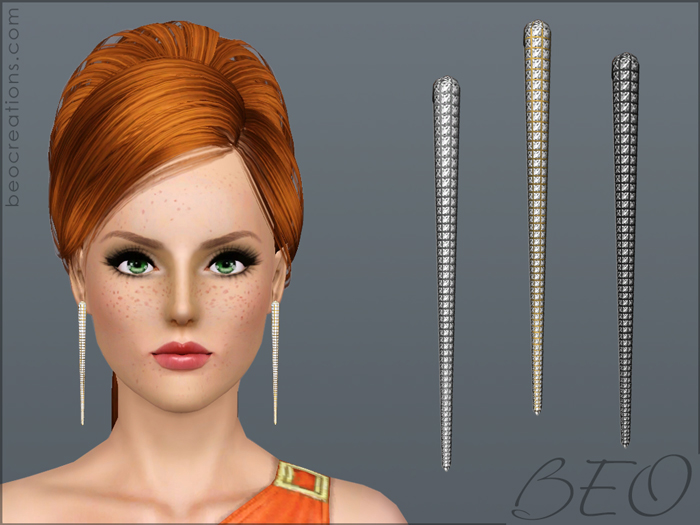 Diamond earrings for Sims 3 by BEO