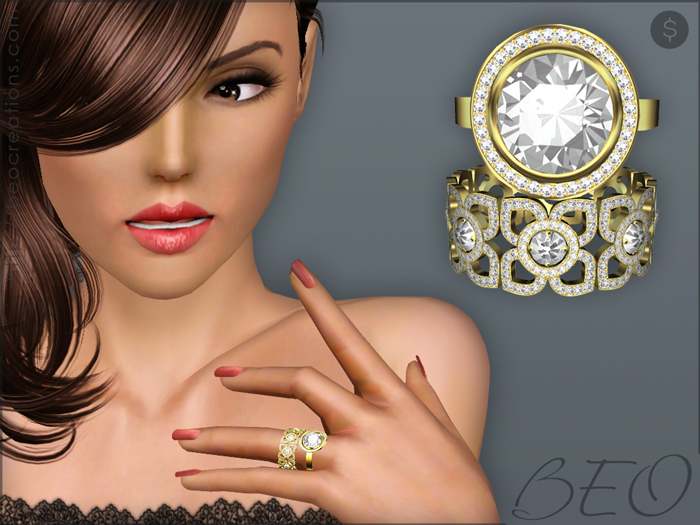 Diamond rings set for The Sims 3 by BEO