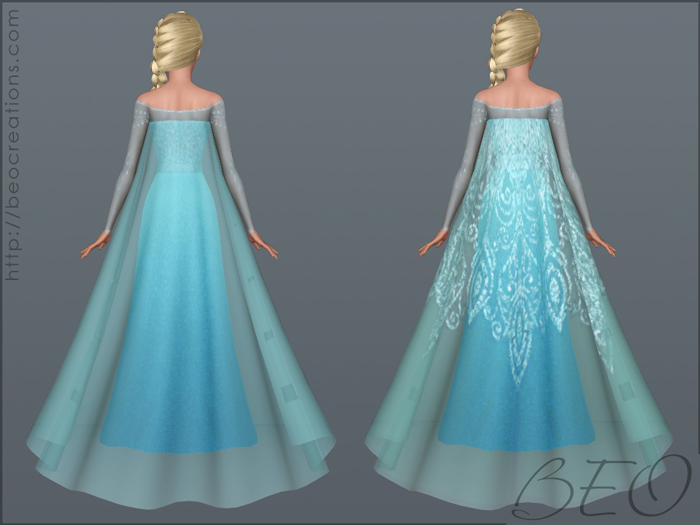 Elsa's dress (Frozen) for Sims 3 by BEO (3)