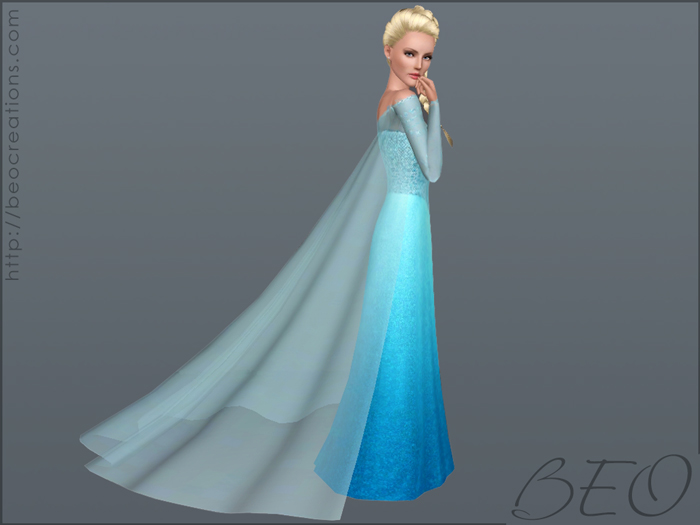 Elsa's dress (Frozen) for Sims 3 by BEO (4)