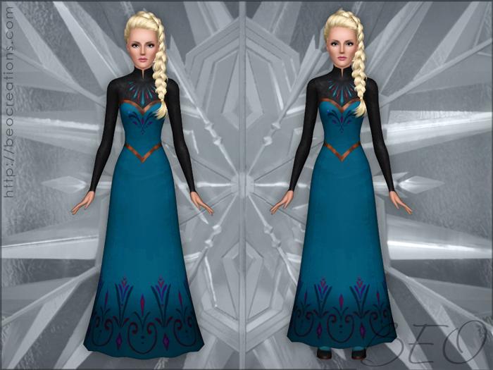 Frozen - Elsa's coronation dress for Sims 3 by BEO (7)