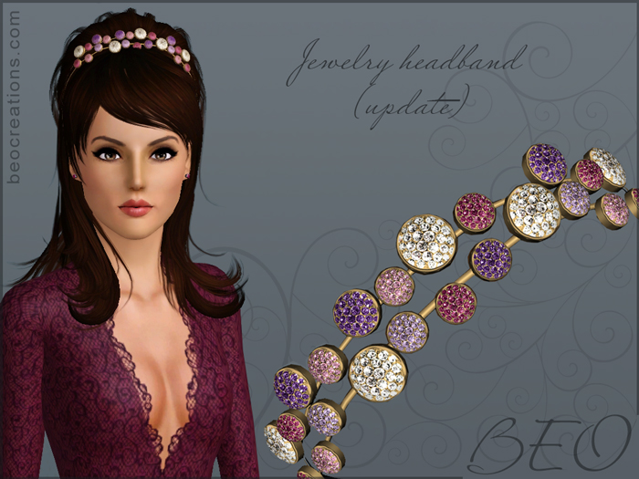 Jewelry headband for Sims 3 by BEO
