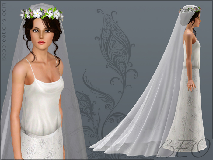 romantic veil for Sims 3 by BEO