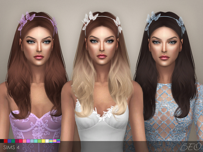 Headband - Butterflies for The Sims 4 by BEO