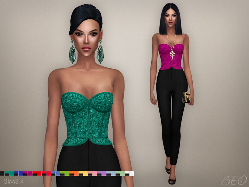 Cristina collection - Jumpsuit for The Sims 4 by BEO