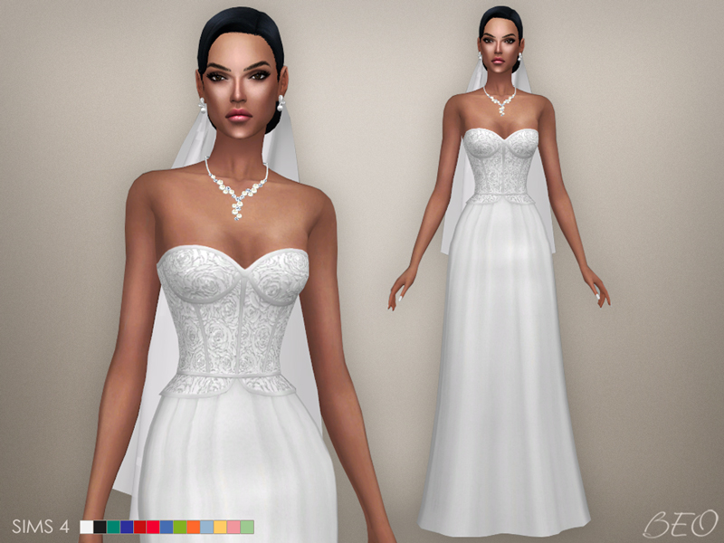 Cristina collection - Wedding dress for The Sims 4 by BEO