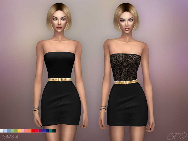 Mini dresses - Mila The Sims 4 by BEO