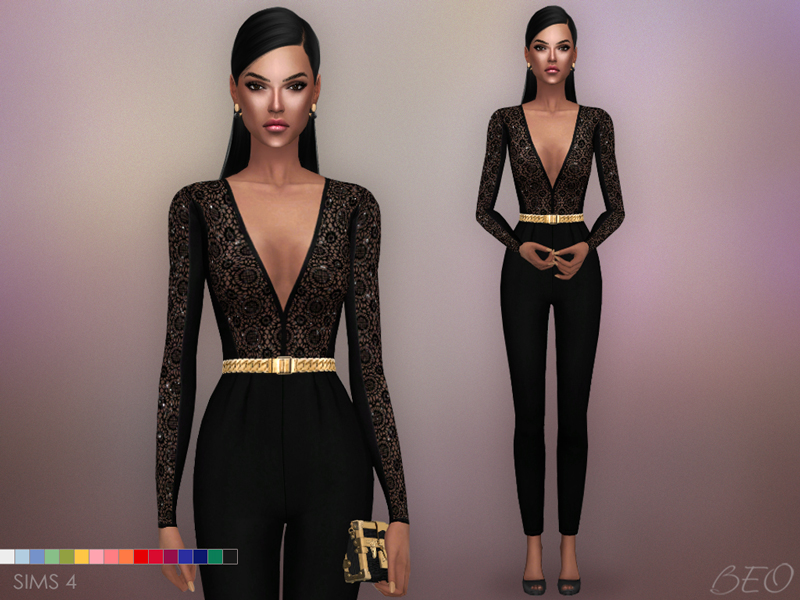 Jumpsuit - Sara The Sims 4 by BEO