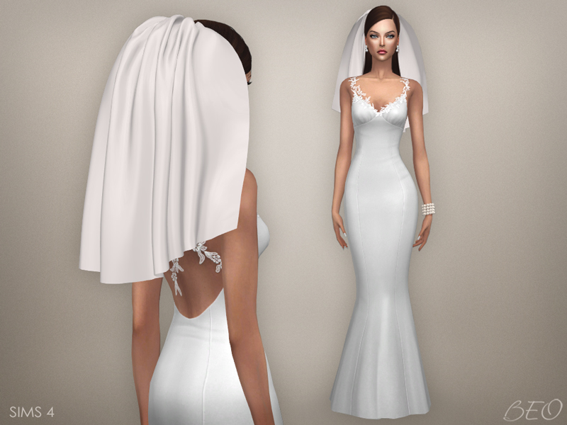 Wedding veil 04 for The Sims 4 by BEO