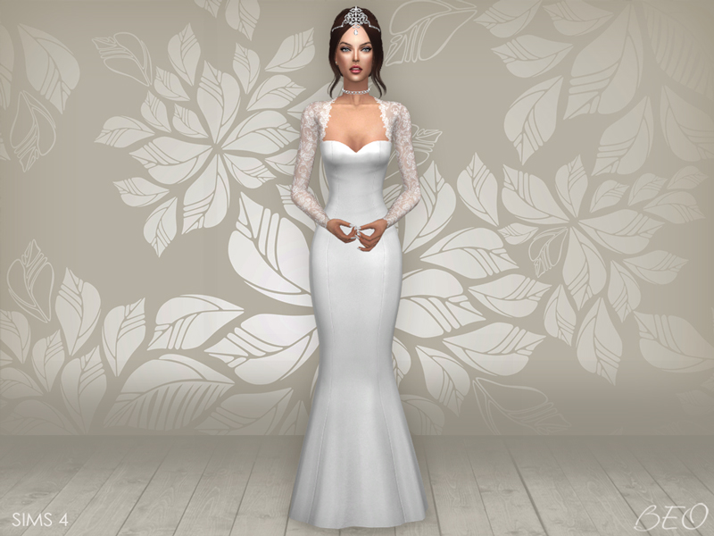 Wedding dress - Cynthia for The Sims 4 by BEO