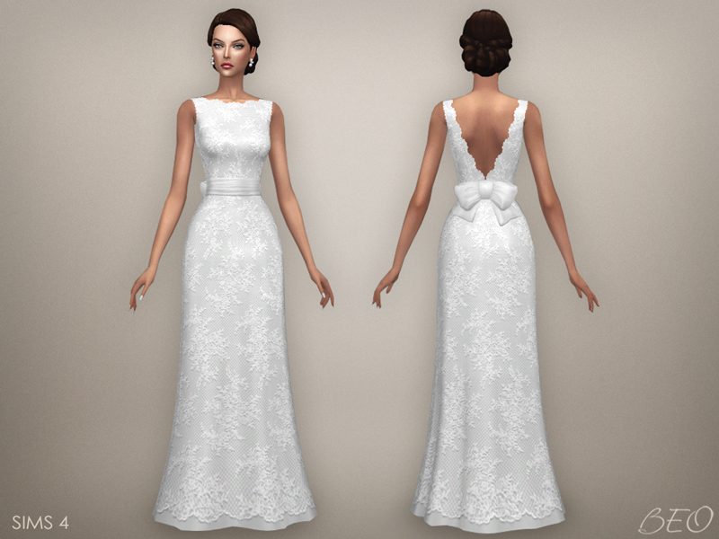 Wedding dress - Ellie for The Sims 4 by BEO