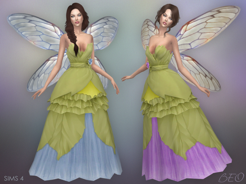 Wedding dress - Fairy for The Sims 4 by BEO (2)