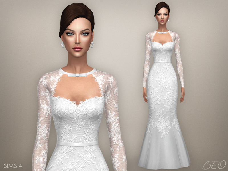 Wedding dress - Tatiana for The Sims 4 by BEO